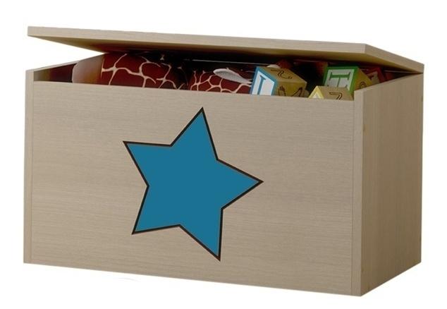 BabyBoo Box na hračky, truhlička Hviezda modrá ku kolekcii Žirafka