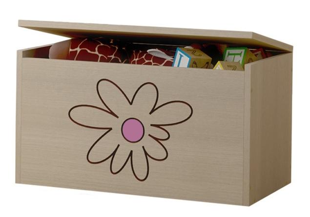 BabyBoo Box na hračky, truhlička Květinka růžová