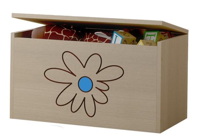 BabyBoo Box na hračky, truhlička Květinka modrá