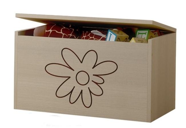 BabyBoo Box na hračky, truhlička Kvetinka