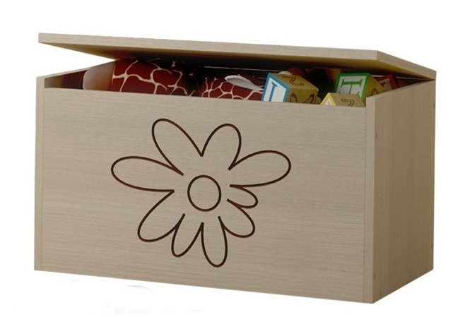 BabyBoo Box na hračky, truhlička Květinka