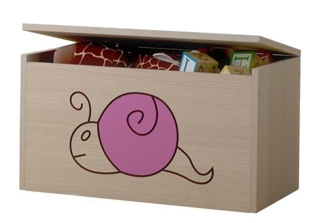 BabyBoo Box na hračky, truhlička Šnek ružový