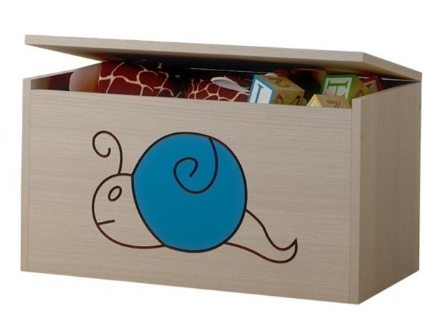 BabyBoo Box na hračky, truhlička Šnek modrý
