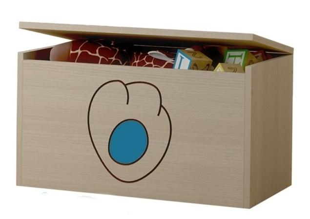 BabyBoo Box na hračky, truhlička Mačičikova tlapka modrá