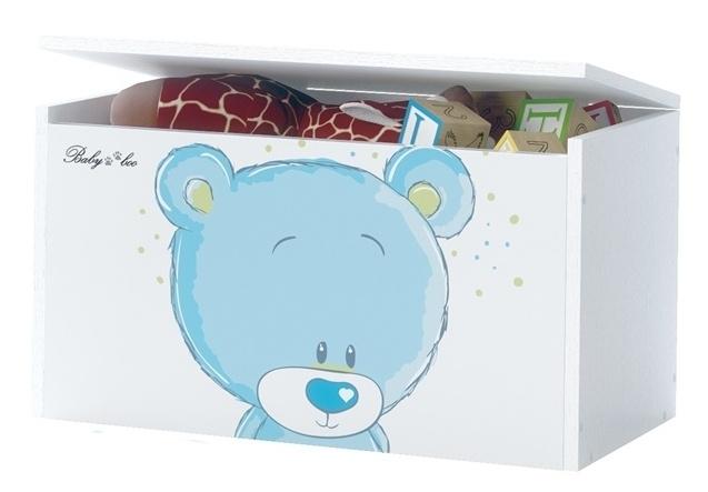 BabyBoo Box na hračky, truhlička Macko STYDLÍN modrý, D19