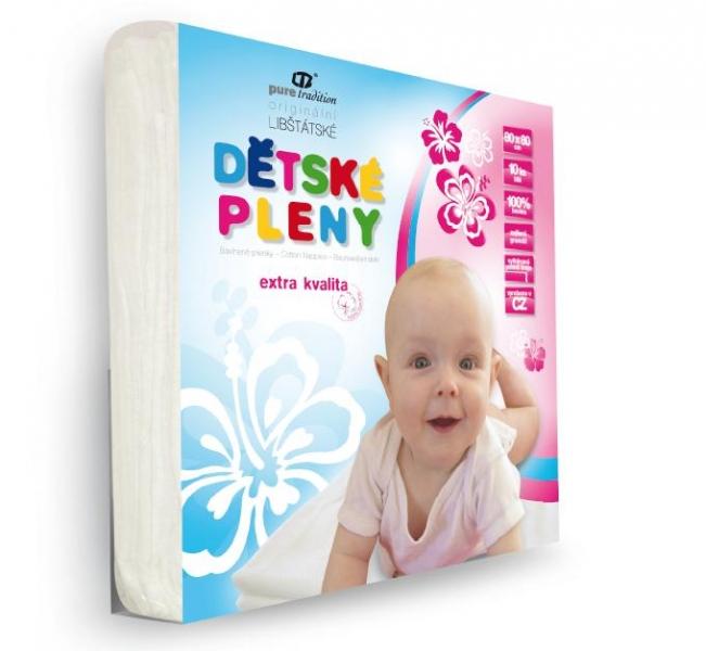Libštát ČR Extra kvalitné detské plienky  80x80cm - biele