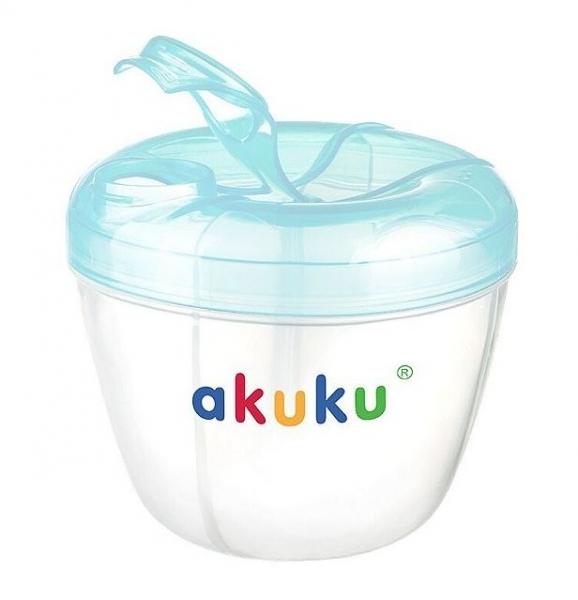 Dávkovač sušeného mlieka v prášku AKUKU - modrý