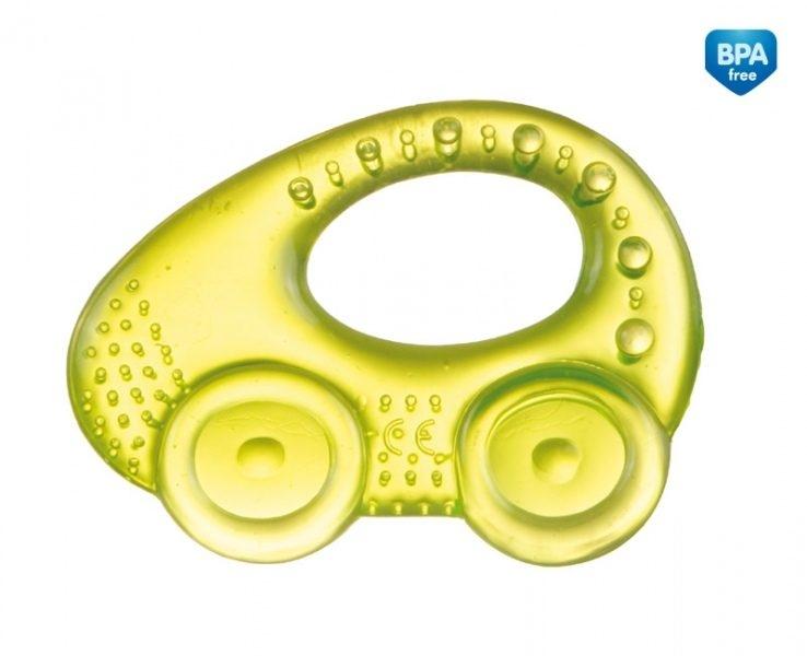 Hryzátko vodné, chladiaci Canpol Babies - Autíčko - žlté