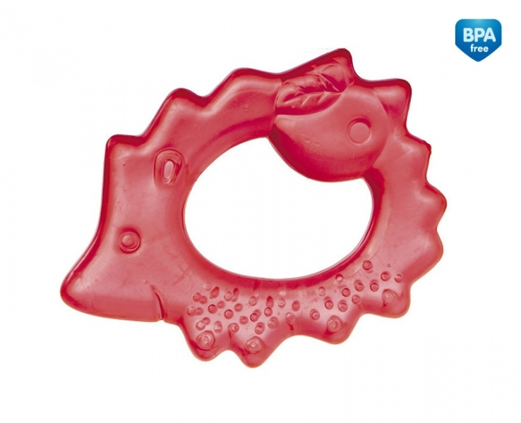 Hryzátko vodné, chladiaci Canpol Babies - Ježko - červené