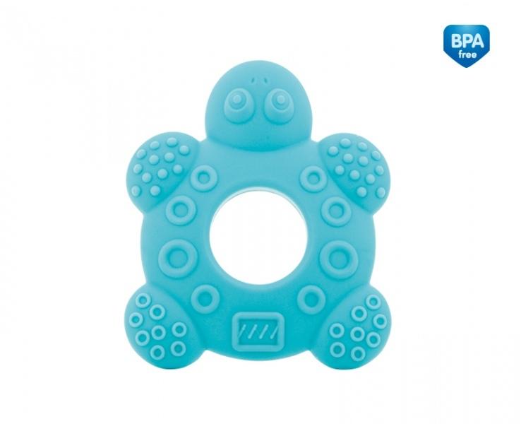 Hryzátko silikonové Canpol Babies - Korytnačka - modré