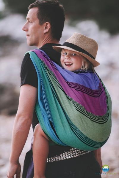 Little FROG Tkaný šatka na nosenie detí -  TENORITE