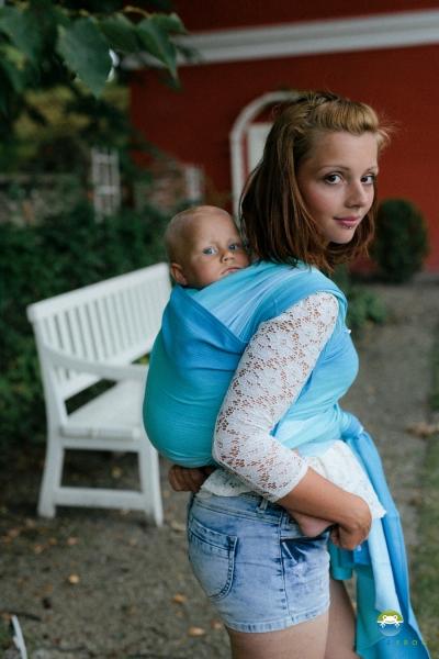 Little FROG Tkaný šatka na nosenie detí -  EUCLASE-XL