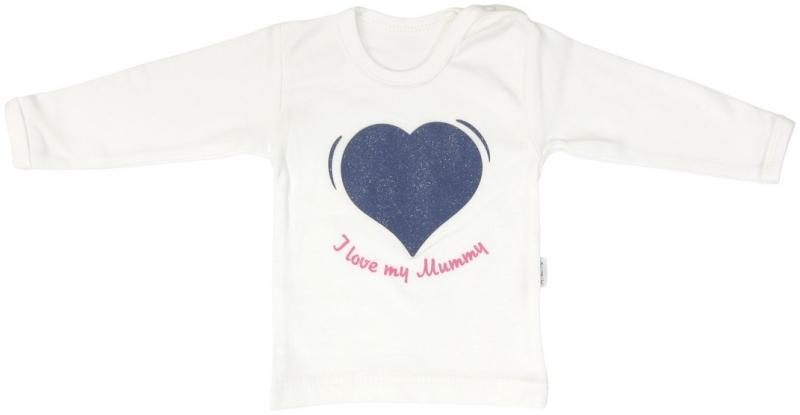 Bavlnené tričko Mamatti Srdiečko ČUČORIEDKA - dlhý rukáv