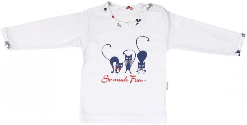Bavlnené tričko Mamatti Mačička MAŠLIČKA - dlhý rukáv