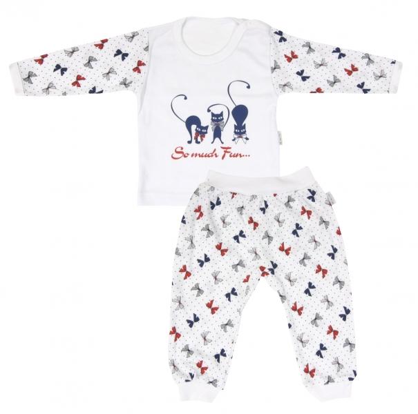 Bavlnené pyžamko Mamatti Mačička MAŠLIČKA-74 (6-9m)