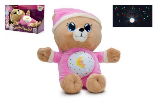 Medvedík Uspávací ružový plyš