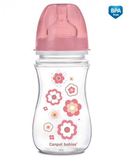 Antikoliková fľaštička Newborn Canpol Babies - kvetinka