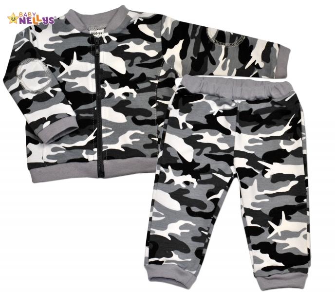 Bavlnená tepláková súprava Baby Nellys ® - Army