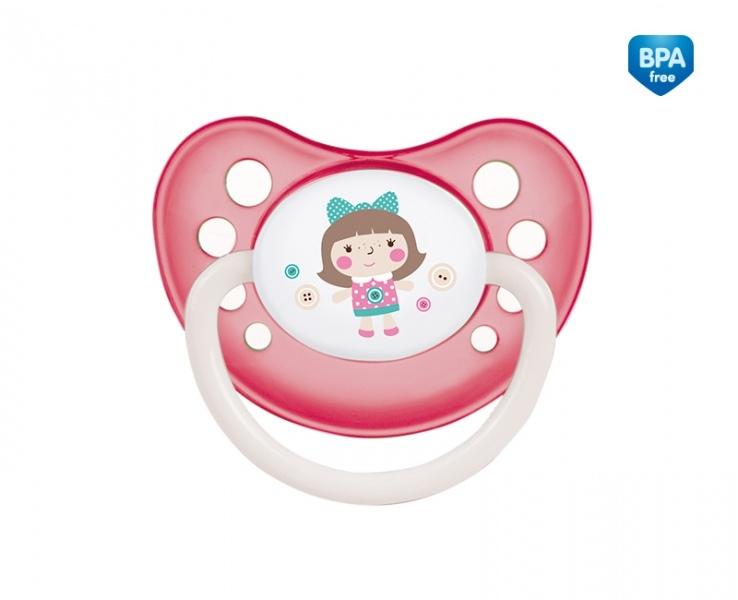 Cumlík anatomický Canpol Babies 6-18m B, TOYS - panenka růžová