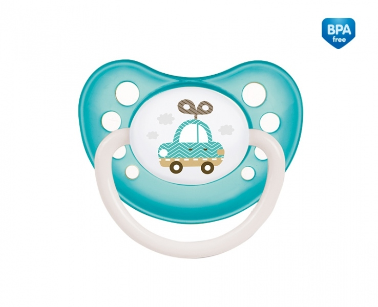 Cumlík anatomický Canpol Babies 6-18m B, TOYS - autíčko modro/zelené