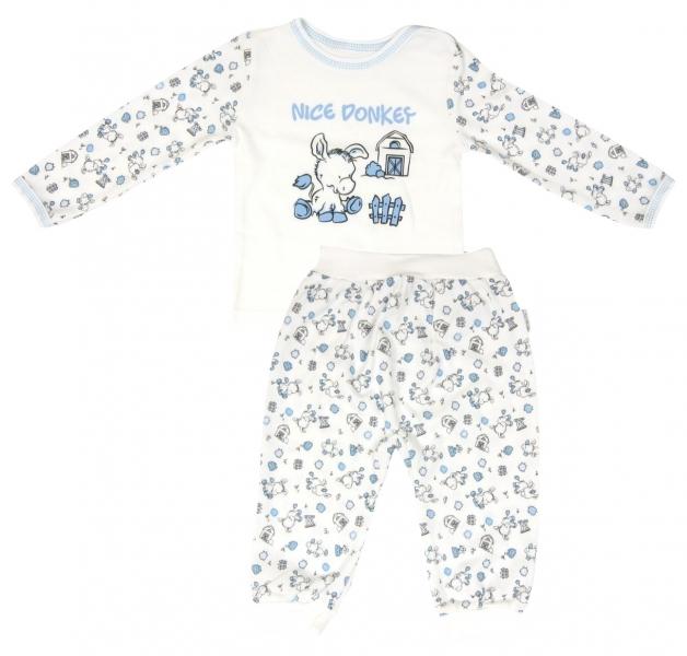 Bavlnené pyžamko Mamatti Oslík-80 (9-12m)