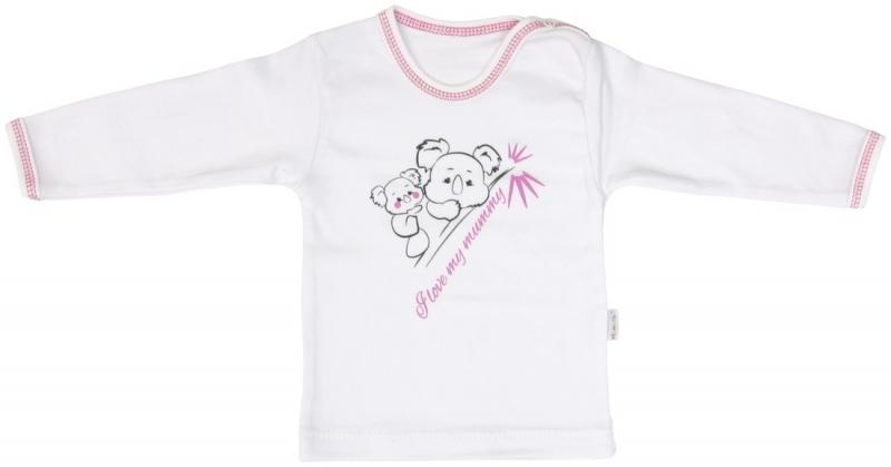 Bavlnené tričko Mamatti KOALA - dlhý rukáv, veľ. 80