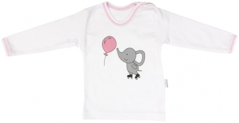 Bavlnené tričko Mamatti Sloník a Balónik - dlhý rukáv