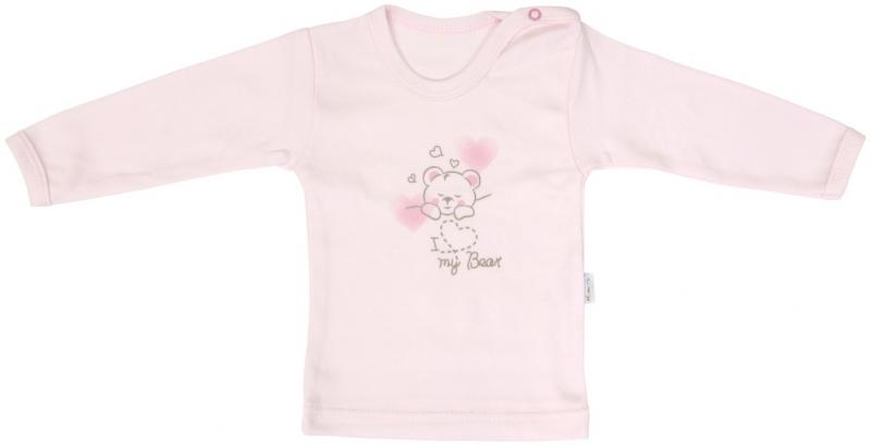 Bavlnené tričko Mamatti Roztomilý Medvedík - dlhý rukáv