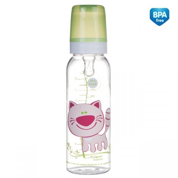 Fľaša Canpol Babies Šťastné zvierata - dievčenské farby