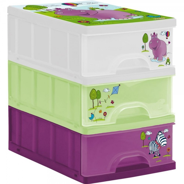 Keeeper Boxy na hračky - zásuvky Hippo