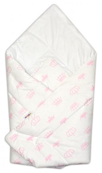 Novorodenecká zavinovačka Baby Nellys ®- ružové koronky