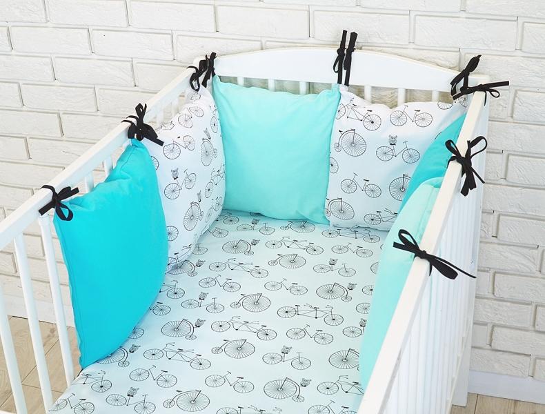 Baby Nellys Mantinel BE LOVE RETRO vankúšikový s obliečkami vzor č. 12