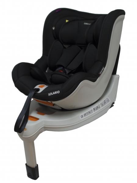 Autosedačka Solario - 0-18 kg čierna