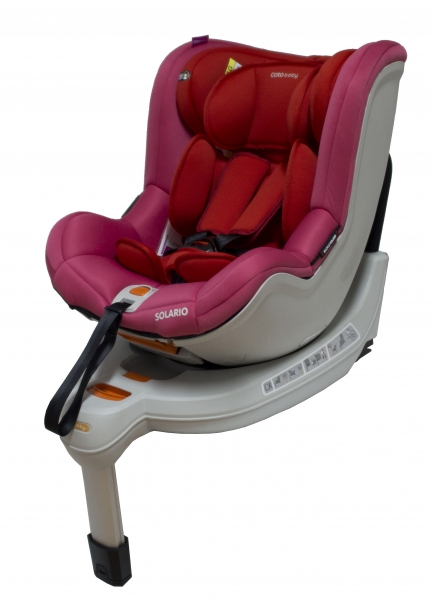 Autosedačka Solario - 0-18 kg červená