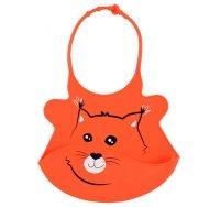 Podbradník silikónový - Oranžový Baby Ono 6m +