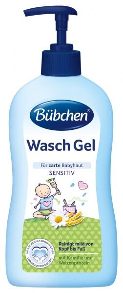 Bübchen Umývací gél sensitiv s pumpičkou 400 ml