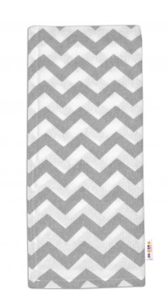 Flanelová plienka - Zig zag šedý v bielej