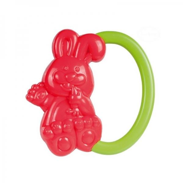 Hrkálka do ručičky Canpol Babies - Zajačik - červená