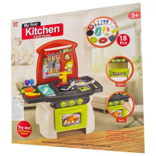 Euro Baby Detská kuchynka s príšlusenstvom - My first Kitchen