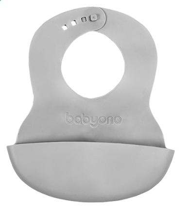 BabyOno Podbradník silikónový - sivý