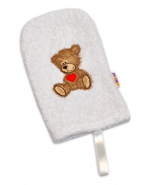 Žinka froté Baby Nellys ® Sweet TEDDY - biela