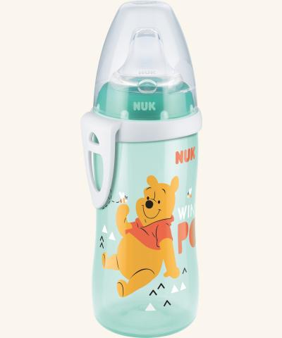 Fľaštička NUK Active Cup 300 ml - Medvedík Pú - tytkysová