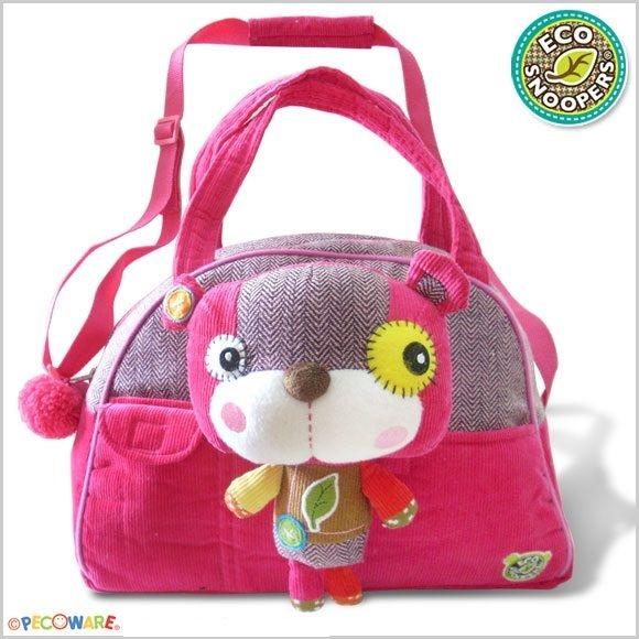 Štýlová detská taška Macko - ružový