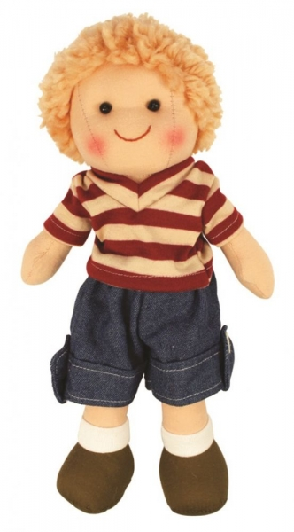 Bigjigs Látková bábika Tomáško, 27cm