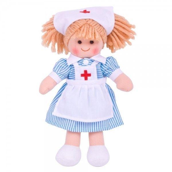 Bigjigs Látková bábika Zdravotná sestrička, 27cm
