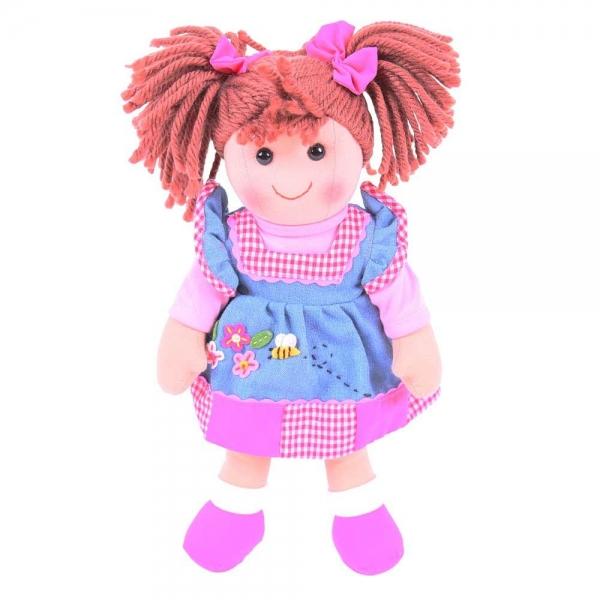 Bigjigs Látková bábika MARLENKA, 30cm