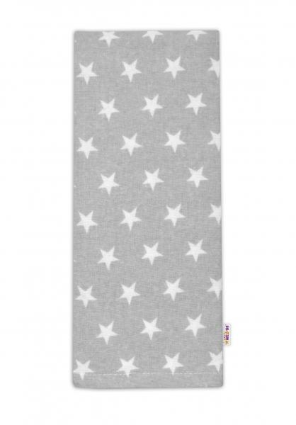 Flanelová plienka - Hviezdičky biele v šedej