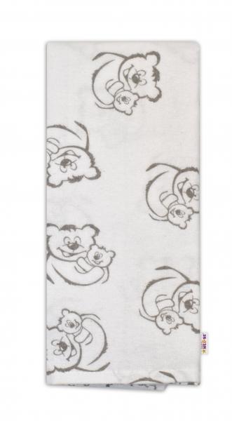 Flanelová plienka - Medvedíci v bielej