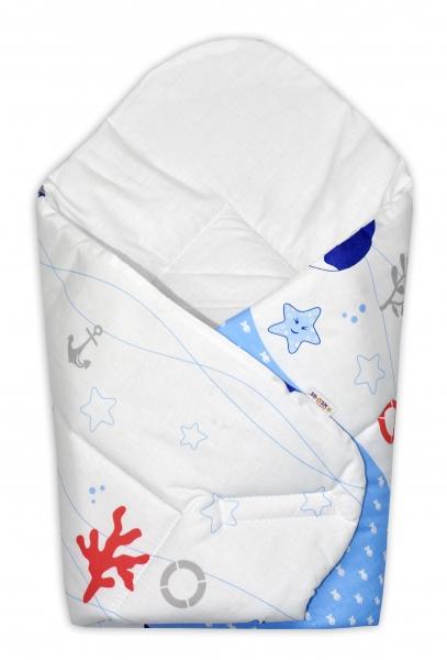 Novorodenecká zavinovačka OCEÁN Baby Nellys - modrý, Klasické