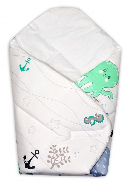 Novorodenecká zavinovačka OCEÁN Baby Nellys - zelený